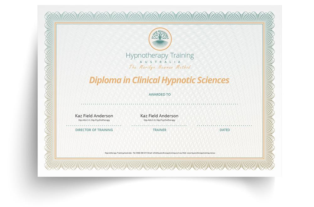 certificate in clinical hypnotic sciences